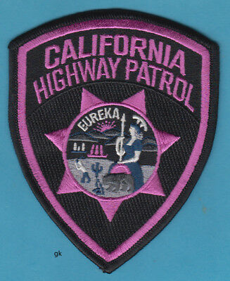 California Highway Patrol  Pink  Breast Cancer Shoulder Fantasy Patch