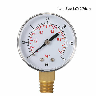 Mini Pressure Gauge For Fuel Air Oil Or Water 1/8 Inch 0-200/0-30/0-60/0-15 QL