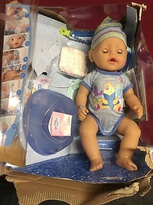 Baby Born Soft Touch - Boy Interactive Function Doll (new other)