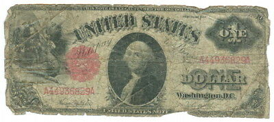 Series 1917 U.s. $1.00 Large Size Red Seal Note