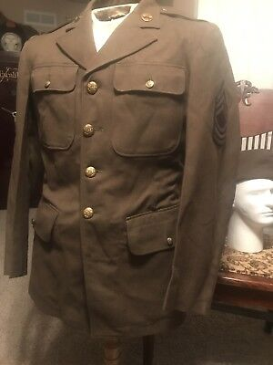 Wwii Us Uniform Lot group grouping Knife  Hat Ided paperwork signal signal corps