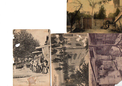 Lot 4 Cartes Postales Anciennes  Barbentane 13