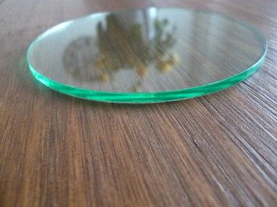 Perspex 100mm disc acrylic 3mm round glass effect circle