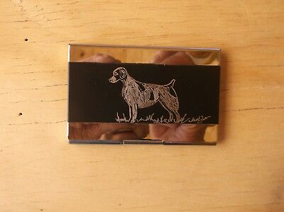 Brittany -  Hand Engraved  Business Card Holder by Ingrid Jonsson.