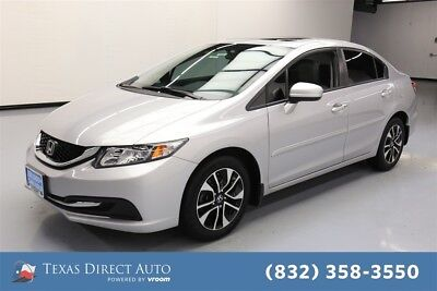 2015 Honda Civic EX Texas Direct Auto 2015 EX Used 1.8L I4 16V Automatic FWD Sedan Moonroof
