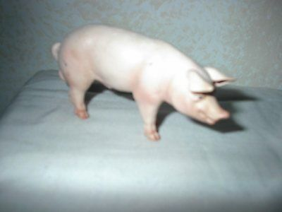 2003 Schleich Germany Male Pink Pig Toy Figure Made in China