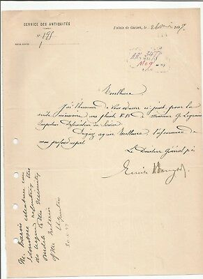 EGYPT ÄGYPTEN 1897 LETTER SIGNED BY Germany Egyptologist Émile Brugsch LOT 14