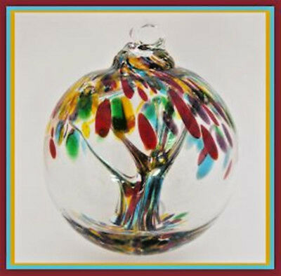 "Hanging Glass Ball 4"" Diameter ""September Tree"" Witch Ball (1) WB30/25"