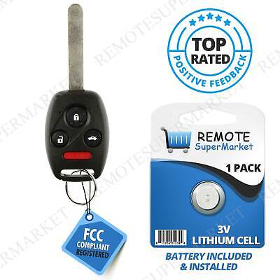 Replacement for 2006 2007 2008 2009 2010 2011 Honda Civic LX Remote Car Key Fob N5F-S0084A,by AUTOKEYMAX PAIR