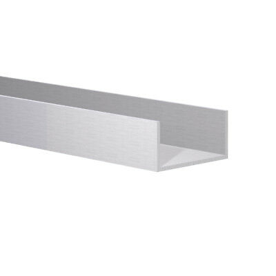 """Aluminum Channel:(1-1/2"""" W x 3/4"""" H x 1/16 Wall) Fits 1-3/8"""" Clear Ano 3 Foot"""
