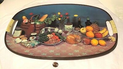 Vintage Cocktail Tray Advertising Salem Cigarette 1960s Hermes Liquor Japan Prop