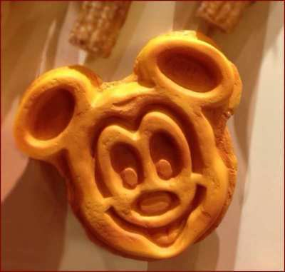 Disney Parks Mickey Mouse Waffle Refrigerator Magnet NEW With Tags