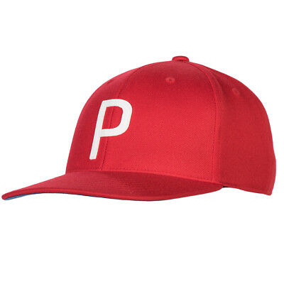 NEW PUMA RICKIE Fowler P 110 Throwback Red White Snapback Hat Cap ... 90db7431671a