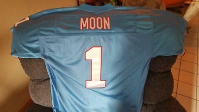 8f8273cfd Houston Oilers Warren Moon Mitchell Ness Players Home Jersey Size 52  Authentic