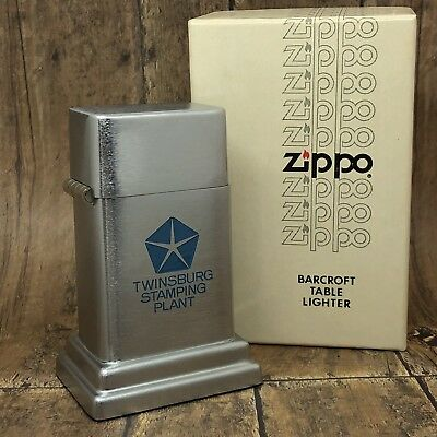 Vintage Zippo Barcroft Model 4 Table Lighter - Chrysler Twinsburg Stamping Plant