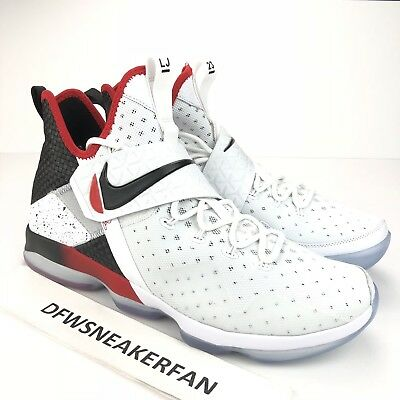 best service 2a55a eee78 NIKE LEBRON 14 XIV Flip the Switch Men's 10.5 White Red Black 852405-103 New