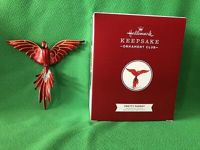 2018 Hallmark PRETTY PARROT KOC Member Exclusive Ornament NIB Beauty If Birds