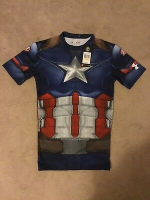 NWT Under Armour Alter Ego Medium Captain America Compression 1273691 410 $59.99