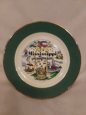 Mississippi State Decorative Plate, Collectible