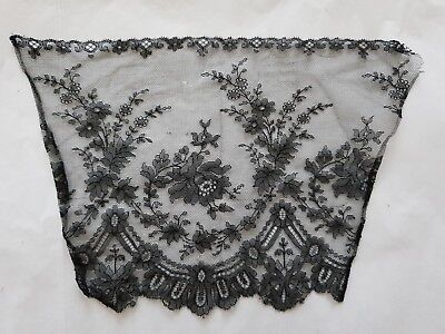 GORGEOUS ANTIQUE FRENCH CHANTILLY LACE piece handmade