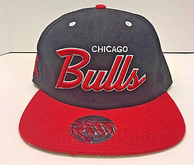 Mitchell & Ness Chicago Bulls Adjustable Windy City Snapback hat cap Red/ Black