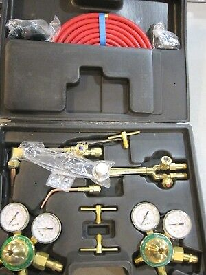 Gas Welding & Cutting Kit Acetylene Oxygen Torch Set Regulator -FREE SHIPPING