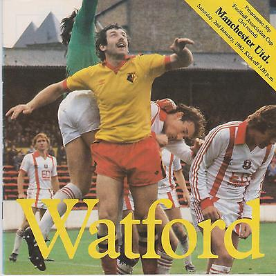 WATFORD v MANCHESTER UNITED FA CUP 1981/82