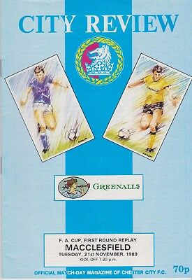 CHESTER CITY v MACCLESFIELD TOWN FA CUP 1989/90