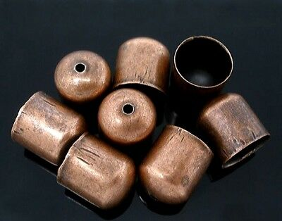 10 x END BEAD CAPS TIPS 9.5mm for KUMIHIMO  Bracelets & Necklaces ANTIQUE COPPER