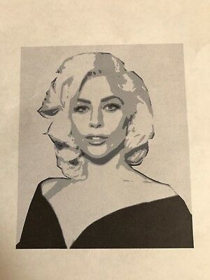 Multilayer stencil Lady Gaga