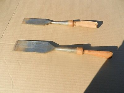 2 Vintage Wood Handle Chisels
