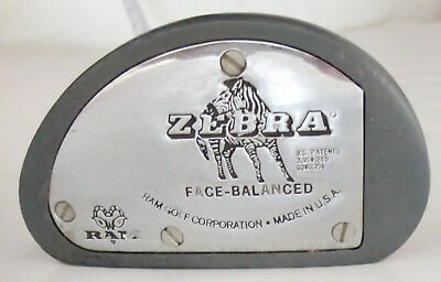 "Vintage Ram Zebra Face Balanced Mallet Putter Steel Shafted 35"" Golf Club"