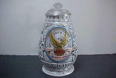 Harley Davidson Live To Ride Ride To Live Lidded Stein 2000 Ceramic No 02608