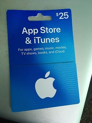 $25 App Store and iTunes Apple Gift Card