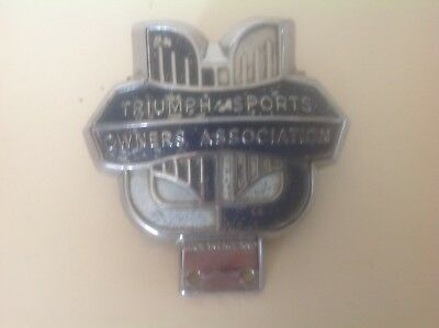 Triumph Sports Owners Association Car Badge (Tsoa), Rare, Collectable, Vintage
