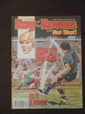 Roy Of The Rovers &  Hot Shot Comic 5th August 1989