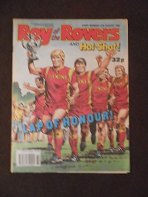 Roy Of The Rovers &  Hot Shot Comic 12th August 1989