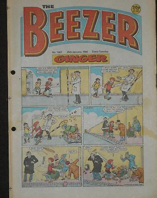 The Beezer Comic 25th January 1986 (Issue 1567)