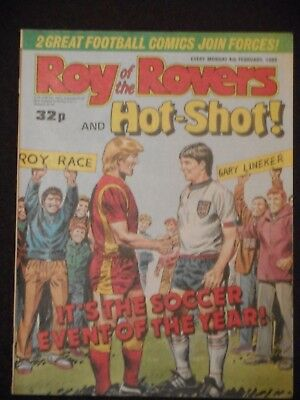 Roy Of The Rovers &  Hot Shot Comic 4th February 1989