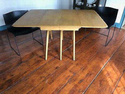 Heywood-Wakefield Wishbone Dining Table with 2 Leaves