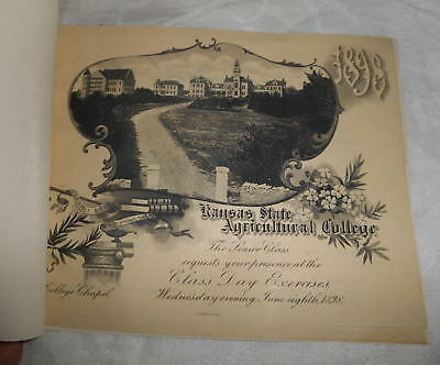 1898 KSAC Kansas State Agricultural College Graduation Announcement Program