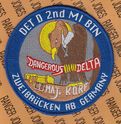 US Army 2d Military Intelligence MI D Det Zweibrucken Air Base Germany patch 5""