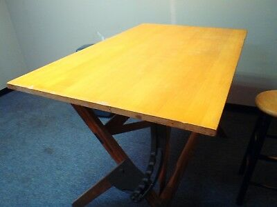 ANTIQUE DRAFTING TABLE-BRONZE #ED TAG-LOOKED IT UP AND EARLY 1900s MANUFACTURER