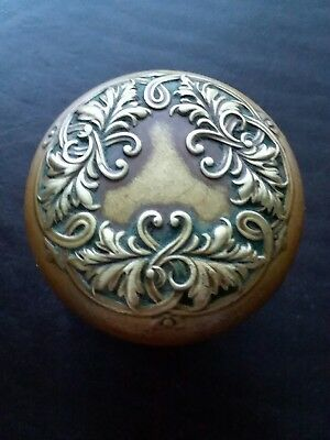 Beautiful Antique Brass Bronze Door Knob - Victorian Eastlake Lorraine - Solid