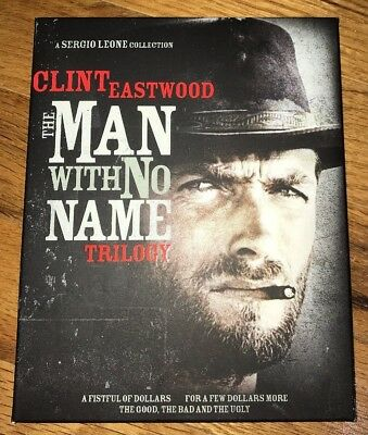 Clint Eastwood -The Man With No Name Trilogy - 1964-1966 (Blu Ray, 3-Disc, 2014)