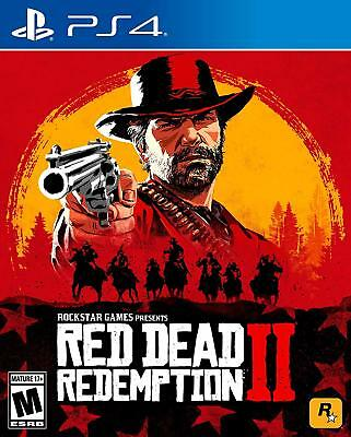 PS4 Red Dead Redemption 2 II Standard Edition Sony PlayStation 4 2018 NEW Sealed