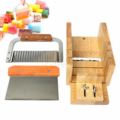 Soap Mold Loaf Cutter Adjustable Wood Box Straight/ Wavy Cutter Cutting Tool