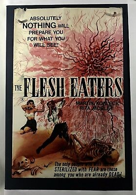 FLESH EATERS Movie Poster (Poor) UK Quad Incomplete 1964 18 1/2 x 28 Horror 74F