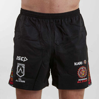 Indigenous All Stars 2019 Players Training Shorts Size S-5XL! NRL Aboriginal