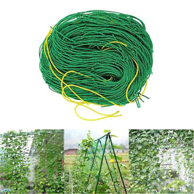 Gardens Green Nylon Trellis Netting Supports Climbing Bean Plant Nets Grow Fence